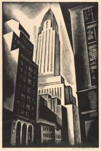 Chrysler Building (Chrysler Building in Construction)_Howard Cook