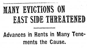 Many Evictions_NYTimes Headline