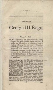 The Stamp Act. London, 1765, p. 2. London printed by Mark Baskett, 1766. Manuscript Division, Library of Congress