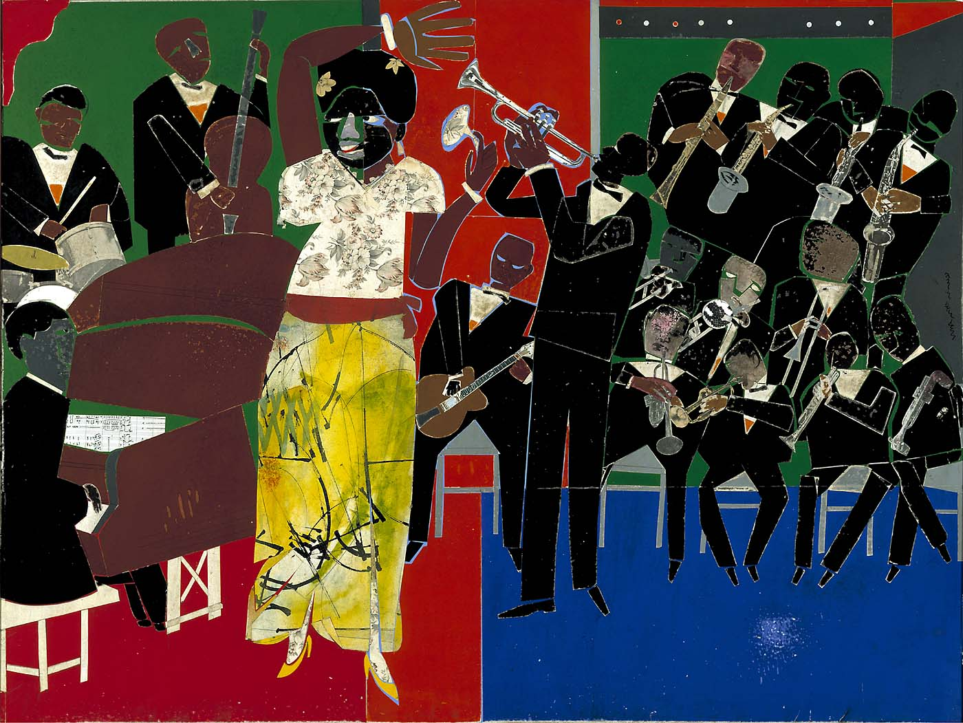 Empress of the Blues, 1974, Romare Bearden, Smithsonian American Art Museum