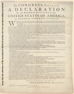 1st Dunlap Printing of Declaration Mass Historical