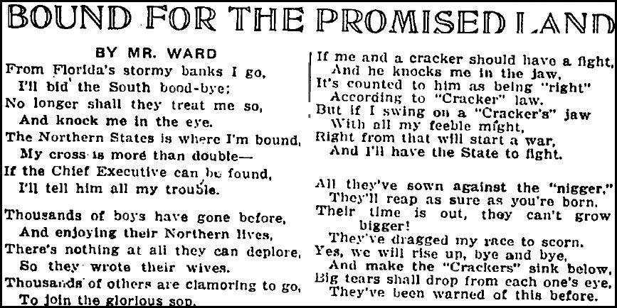 Bound for the Promised Land_Chicago Defender_Nov 11 1916_CROP
