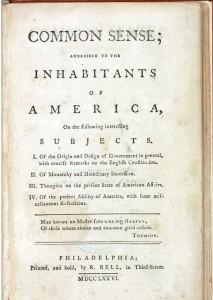 Common Sense 1776 Library fo Congress