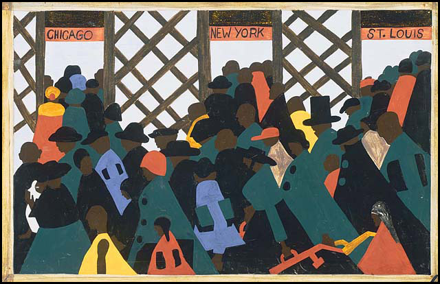 The Migration of the Negro, Panel no. 1, 1940-1941, Jacob Lawrence, Courtesy of The Phillips Collection