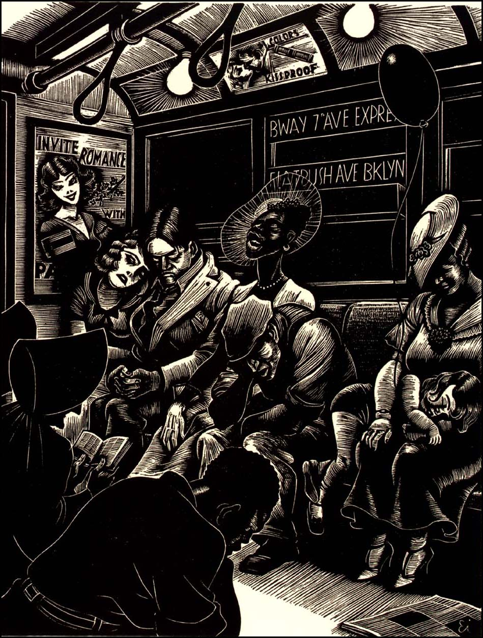 The Subway 1934 Fritz Eichenberg