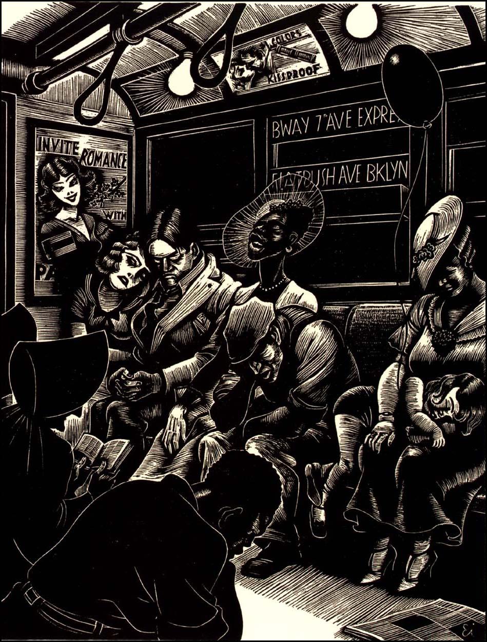 The Subway 1934 Fritz Eichenberg