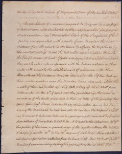 President Thomas Jefferson's message to Congress communicating the discoveries of the explorers Lewis and Clark