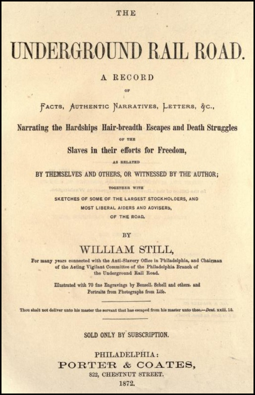 The Underground Railroad A Record 1872 titlepage
