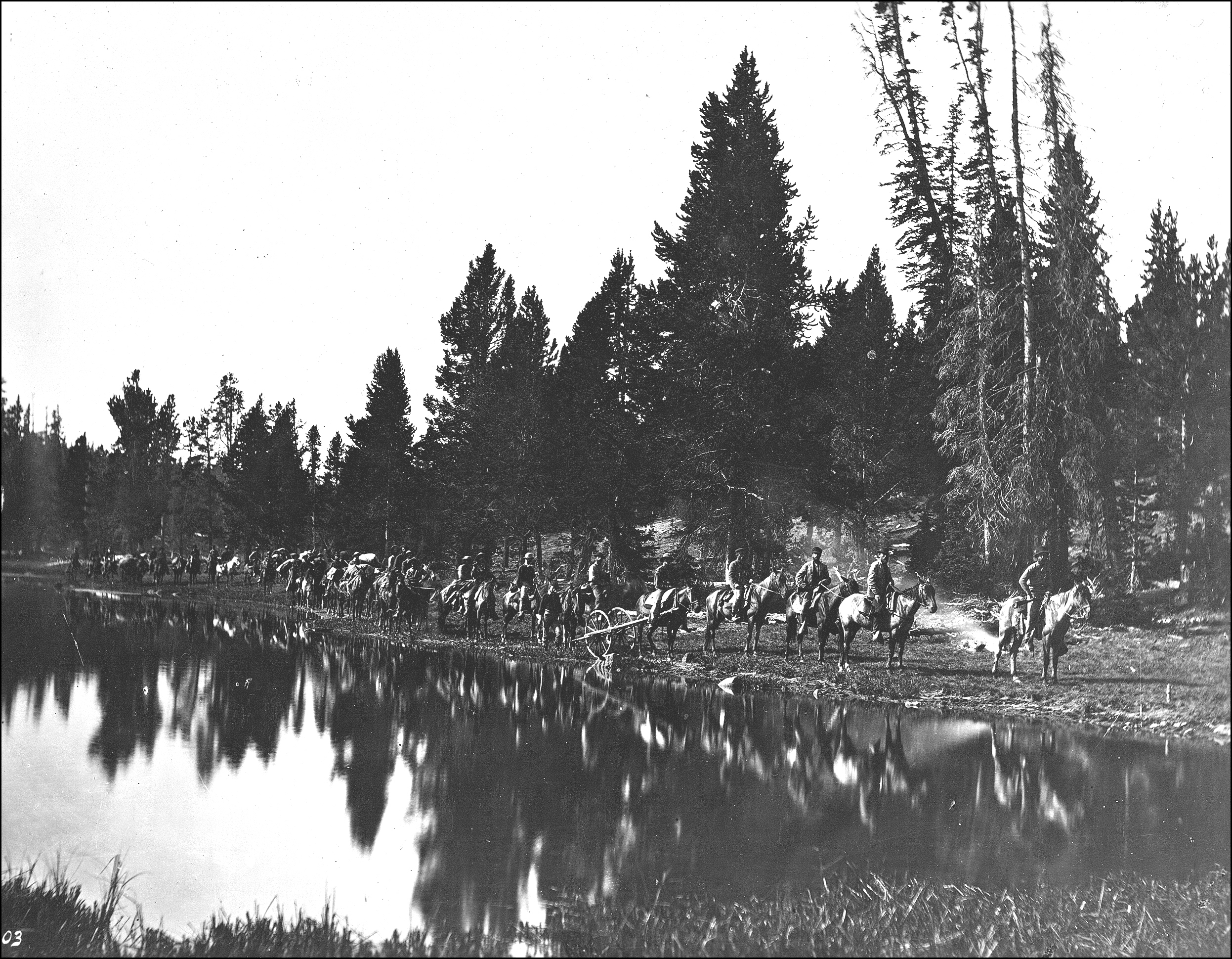 1871 Hayden Survey at Mirror Lake
