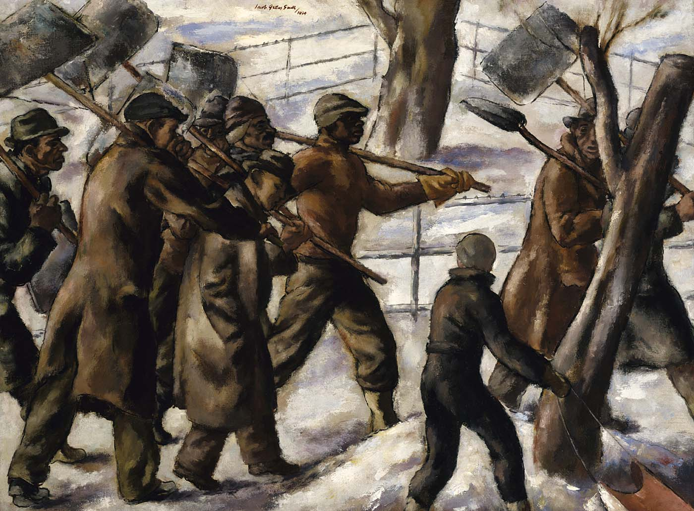 Snow Shovellers, 1934, Jacob Getlar Smith, Smithsonian American Art Museum