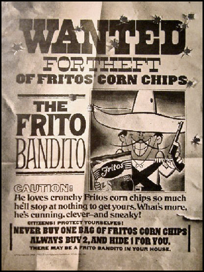 1968 Frito Bandito print ad