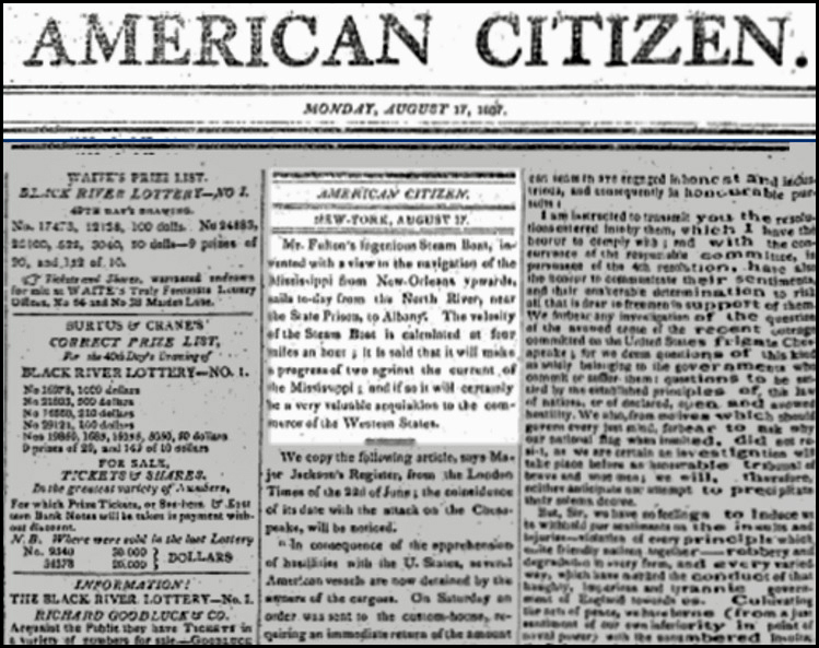 American Citizen Aug 17 1807
