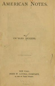 American Notes Charles Dickens