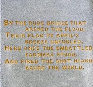 Concord Minute Man Statue Poem