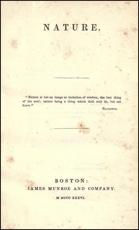 Emerson Nature 1836