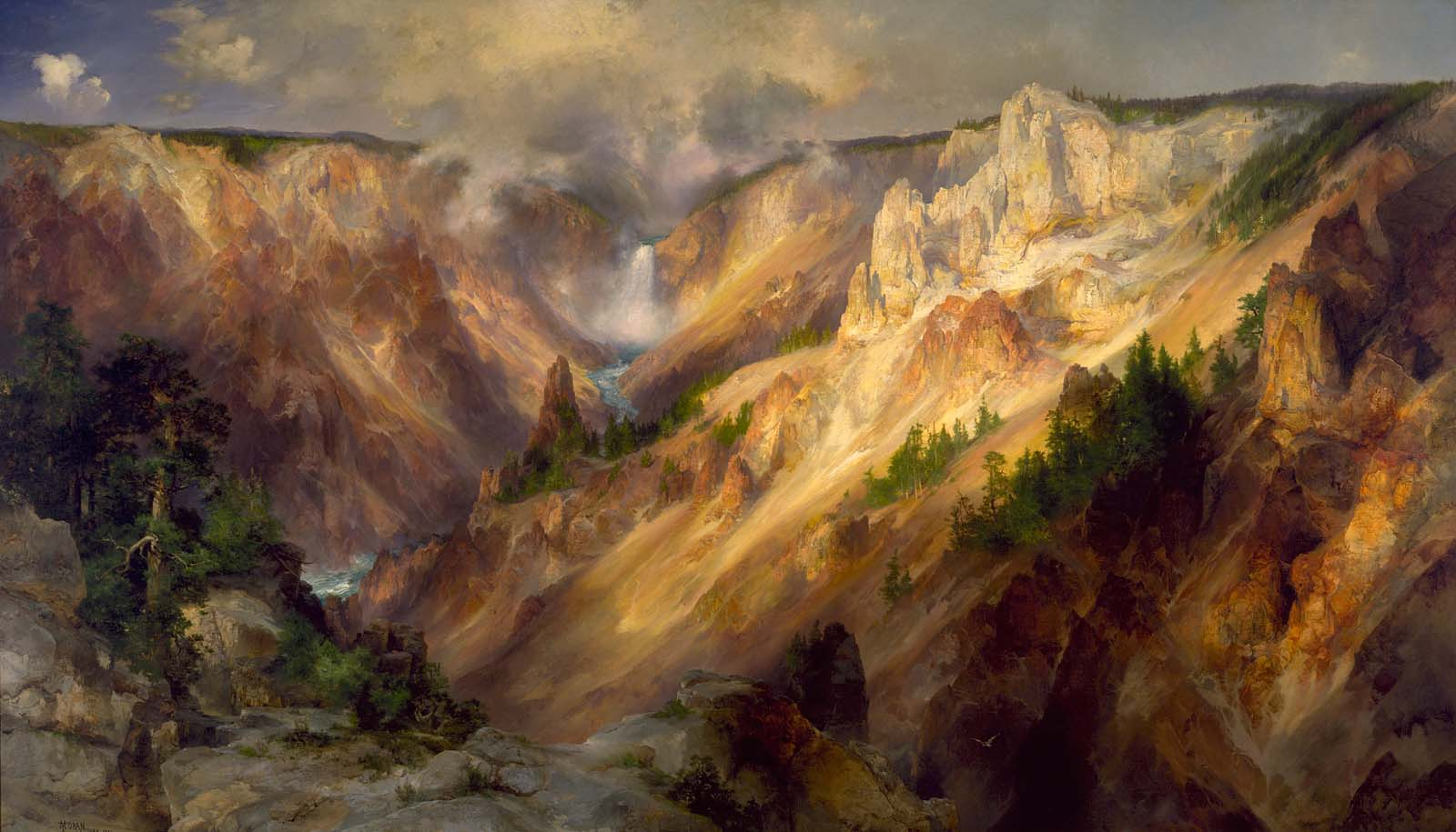 Grand Canyon of the Yellowstone 1890s_1928.7.1_1a