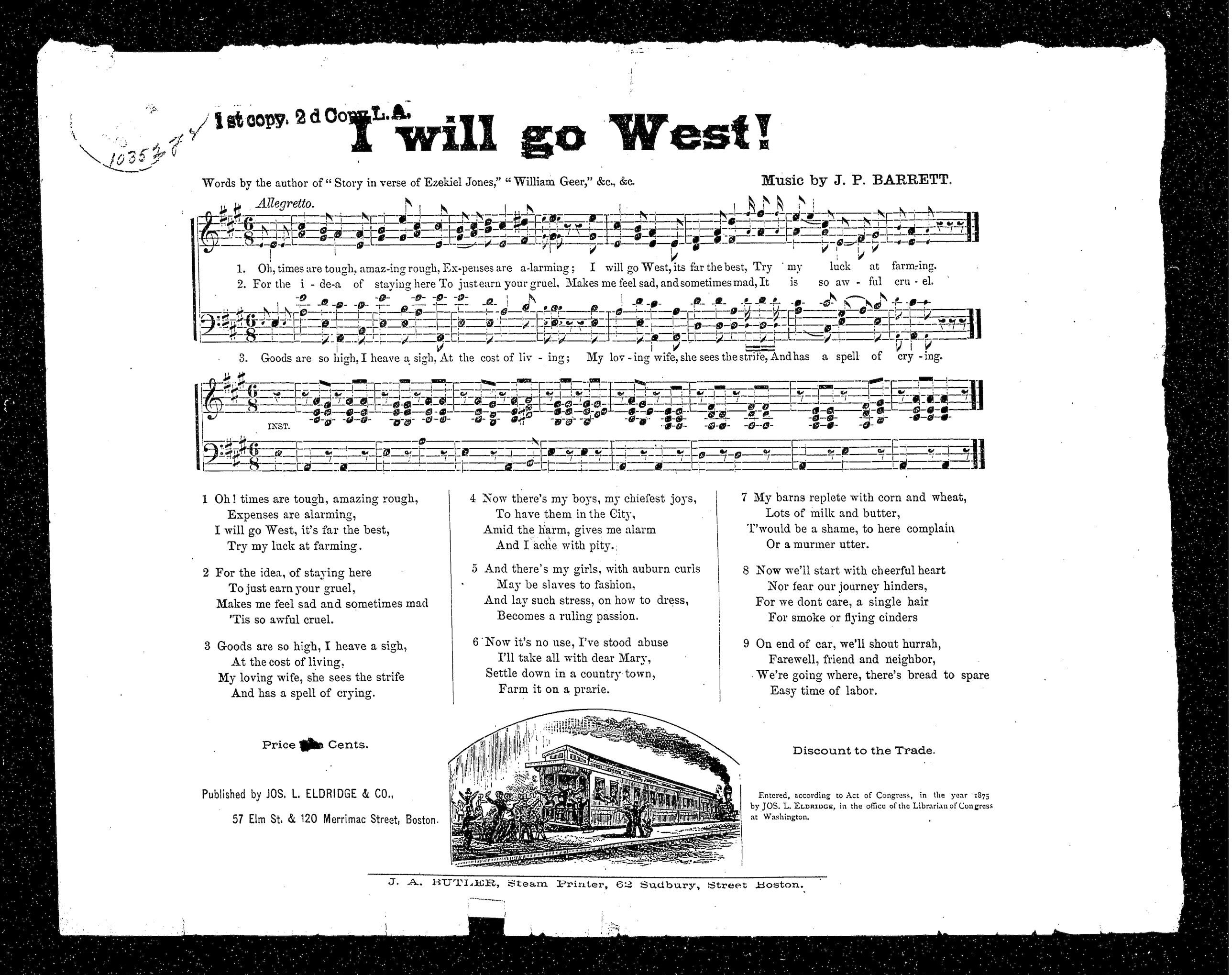 I Will Go West sheet music_Library of Congress_