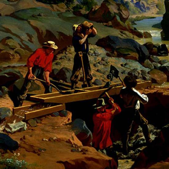 Miners in the Sierras_figure group