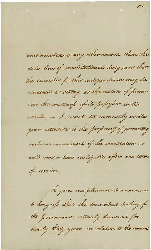 President Andrew Jackson's Message to Congress 'On Indian Removal