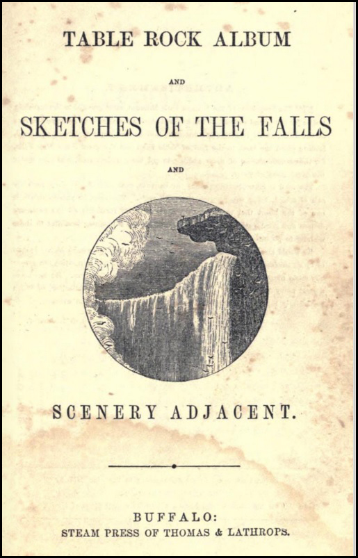 Table Rock Album and Sketches of the Falls