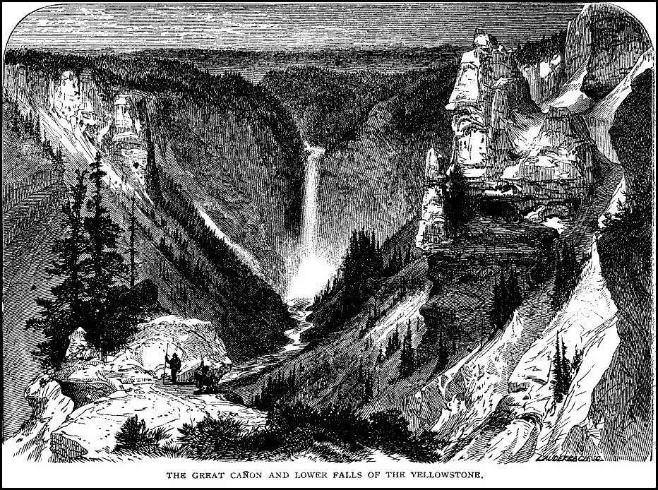 The Grand Canon and Lower Falls of the Yellowstone, T. Moran, Scribners 1872