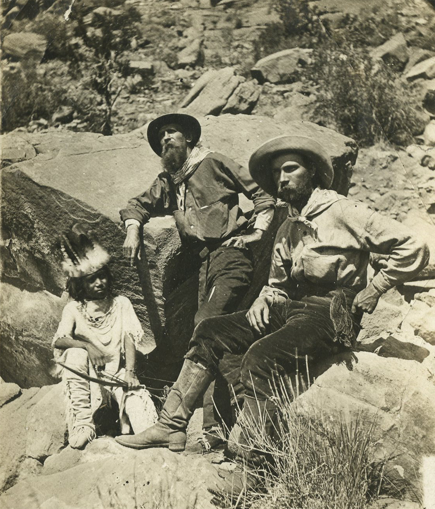 Thomas Moran and William Henry Jackson in Piute country. Early American West Photograph Collection, PR 266