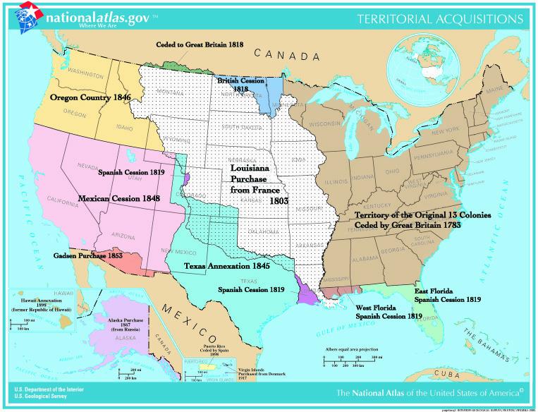 U.S. Territorial Acquisition map, www.nationalatlas.gov