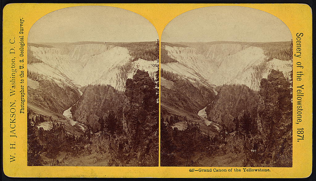 WHJackson Grand Canyon of the Yellowstone 1871