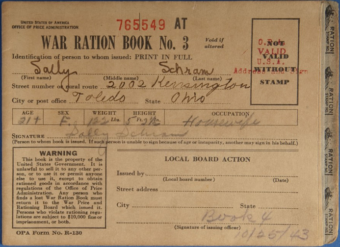 War Ration Book, 1942_NMAH
