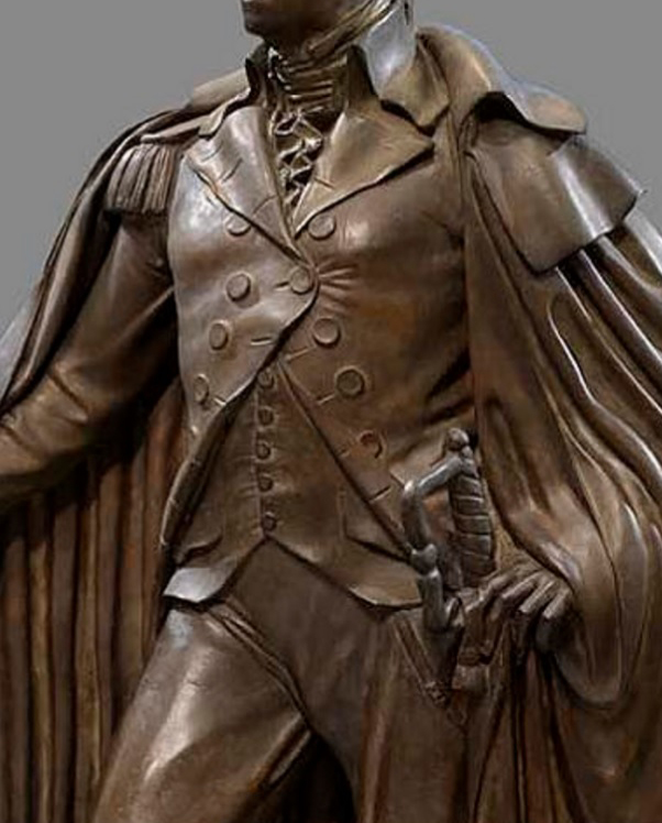 Washington Resigning His Commission - clothing detail