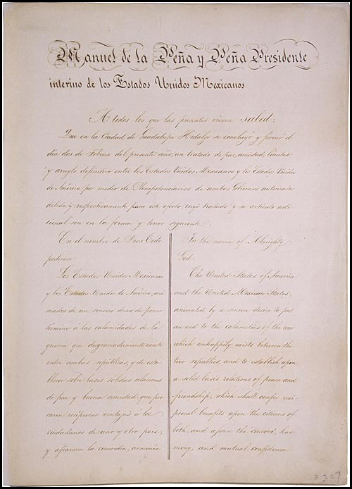 Treaty of Guadalupe-Hidalgo 1848_National Archives and Records Admin